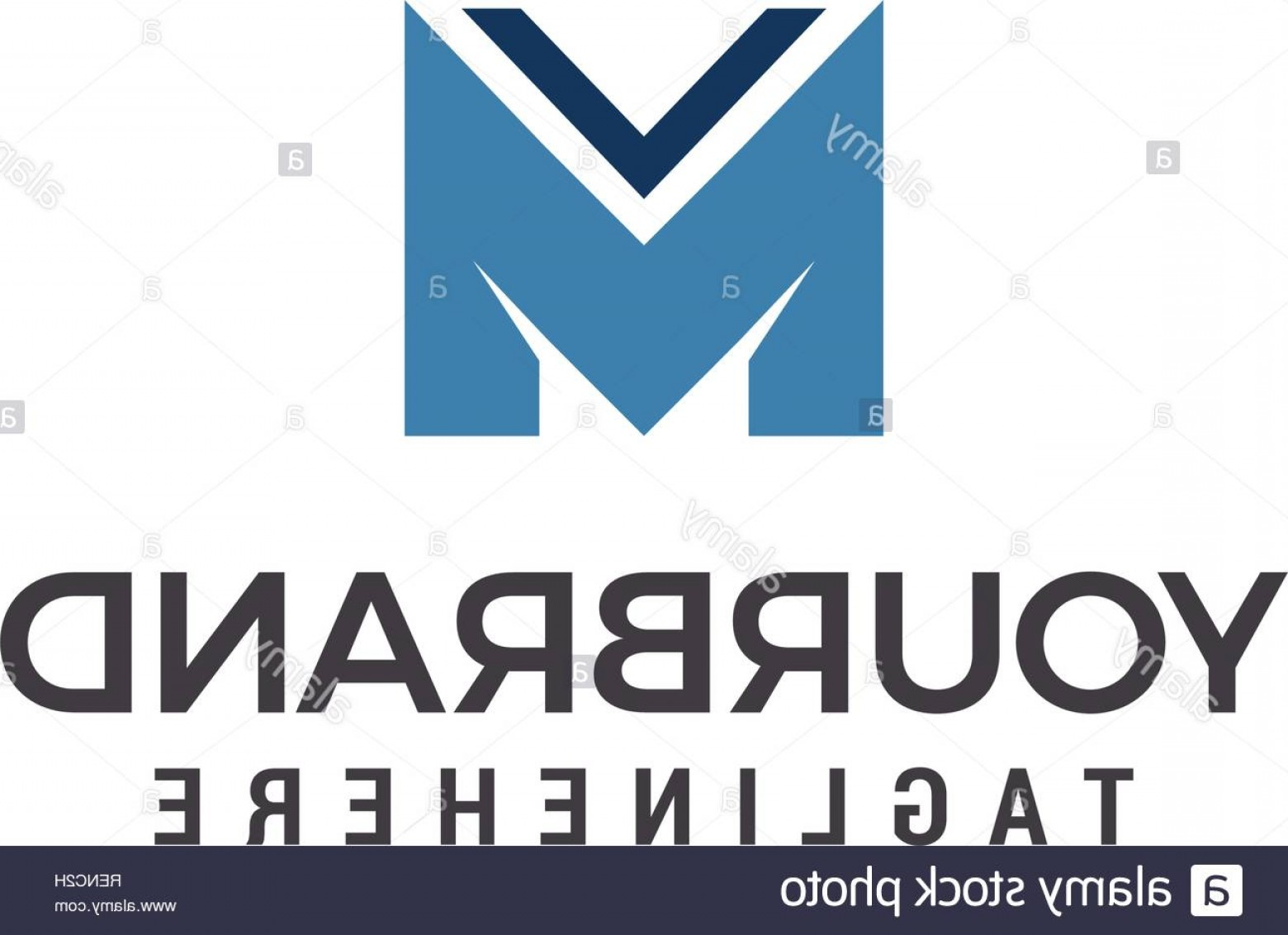 Stock Vector Logo: M Letter Vector Logo Design Template Elements Image