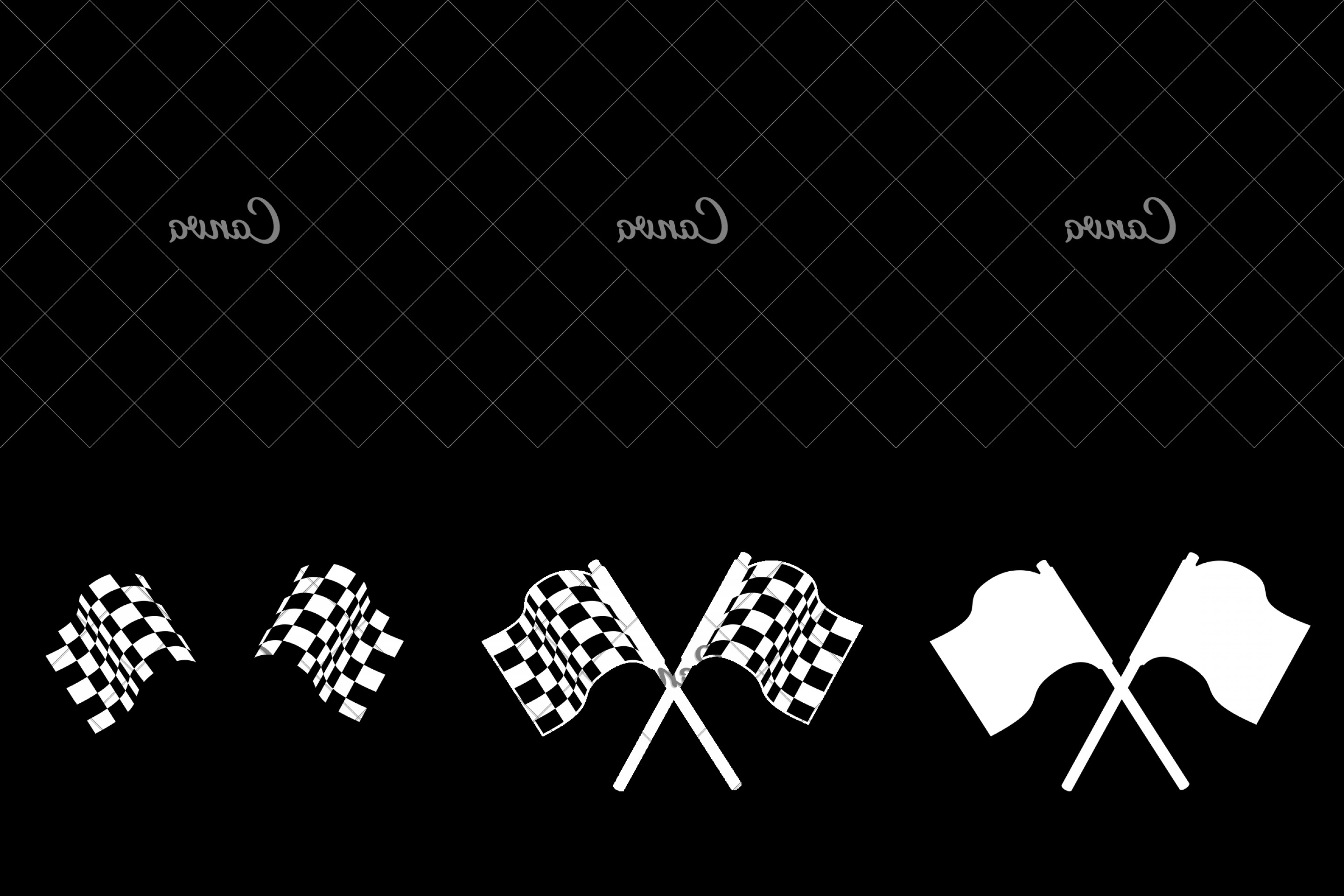 Black And White Vector Racing Graphics: Mabllafom Race Flag Formula Vector Graphic Icon