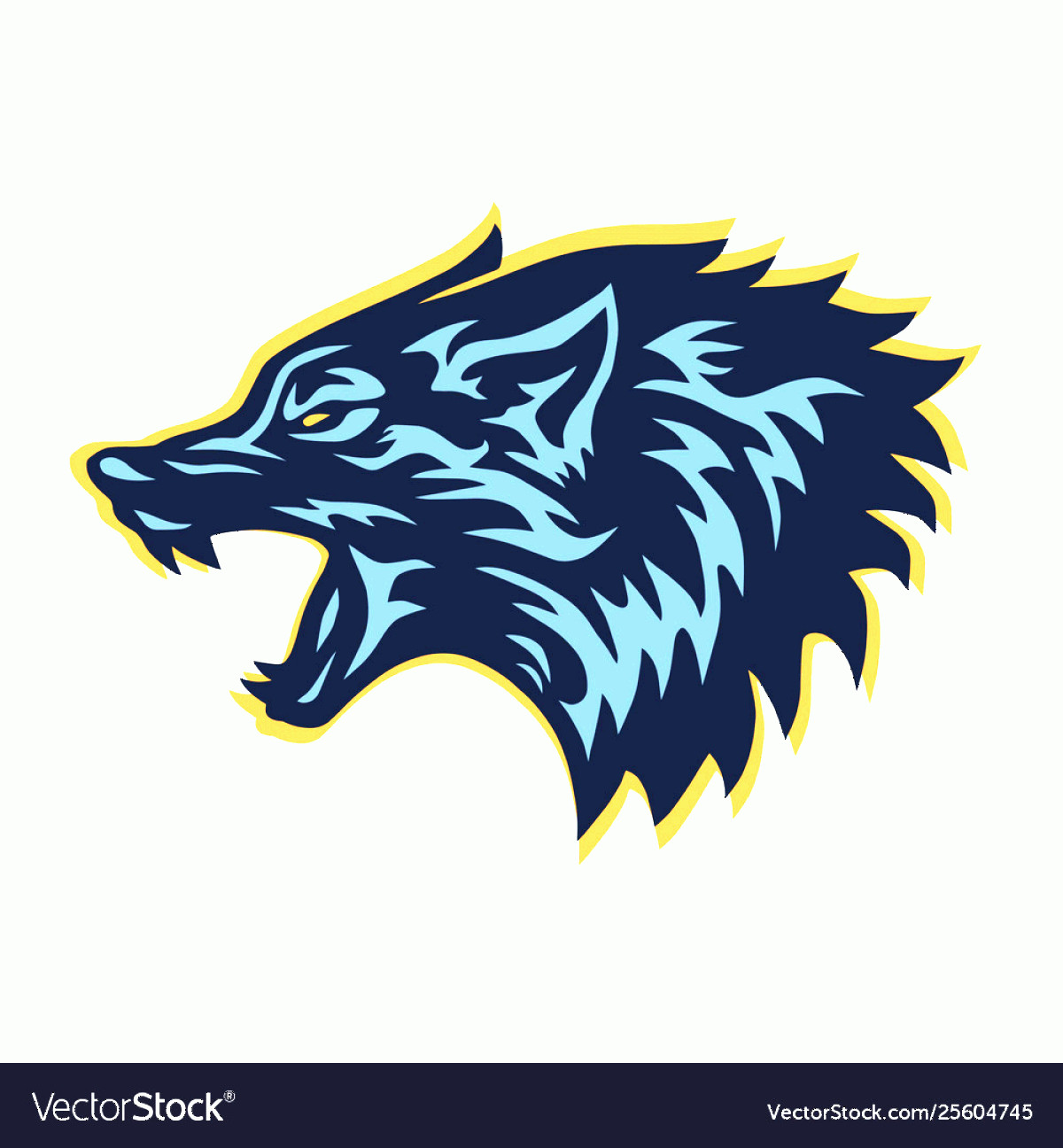 Wolf Vector Logo: Mad Wolf Logo Template Design Vector