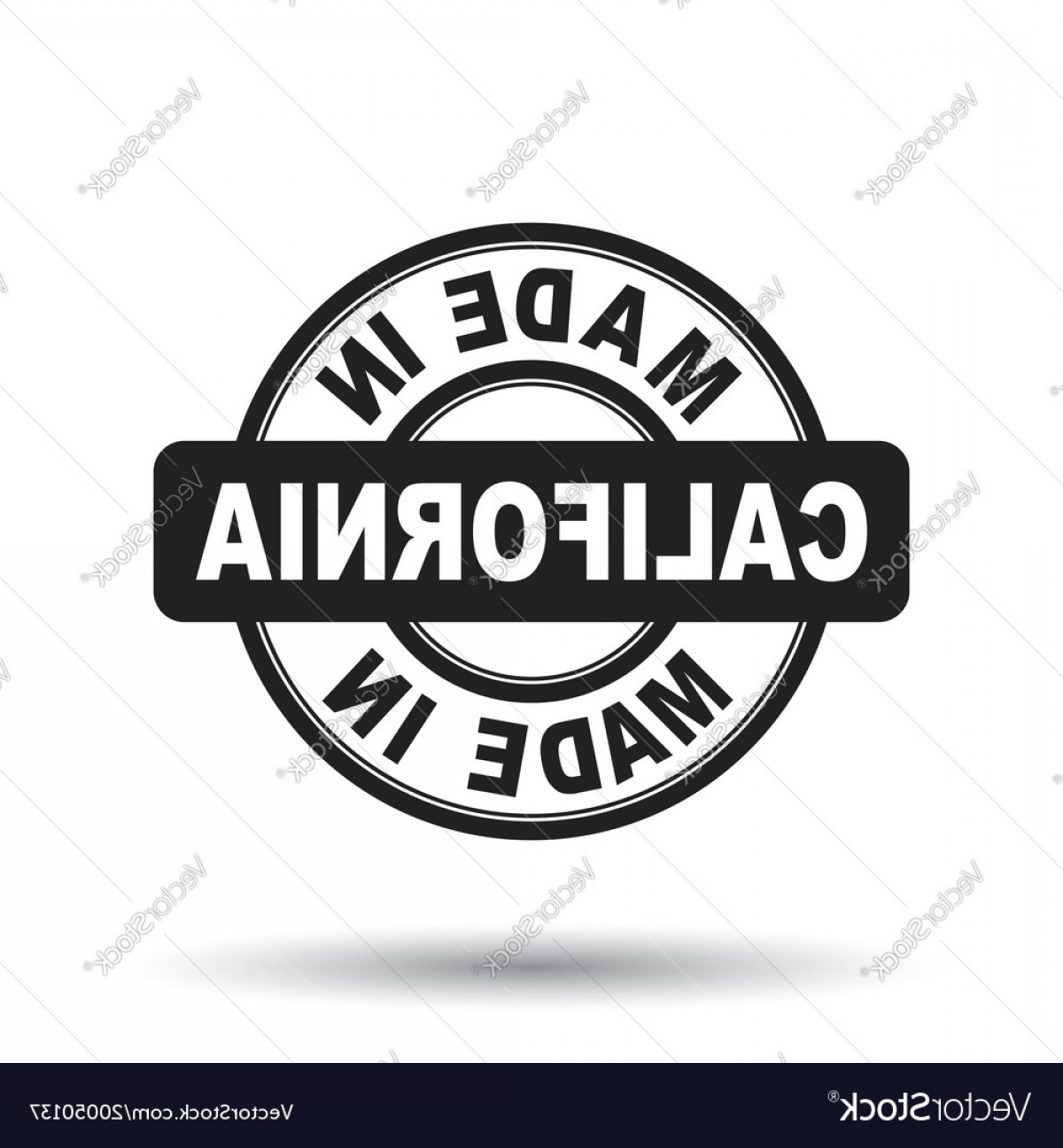 California Black And White Vector: Made In California Black Stamp On White Background Vector