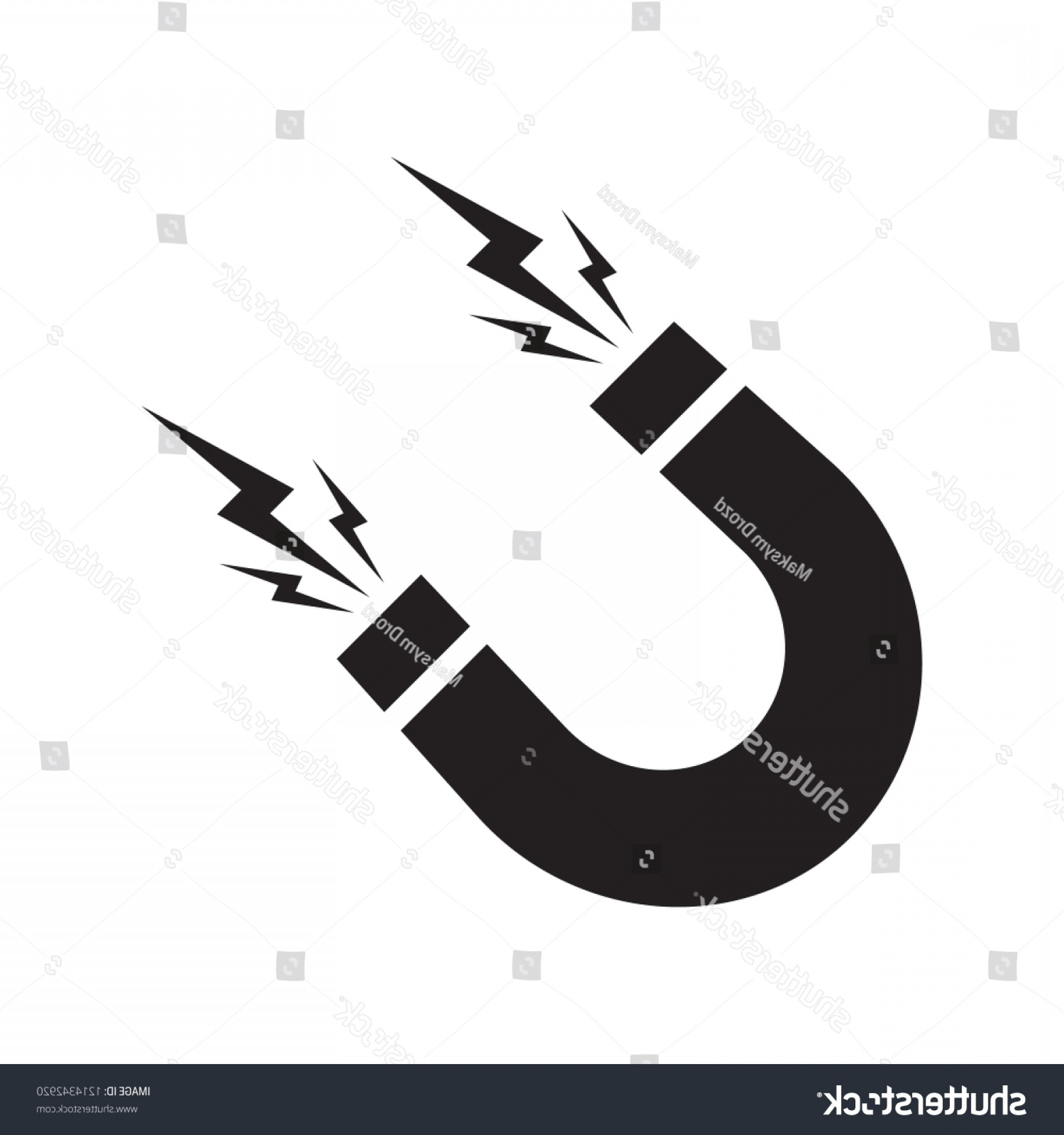 Attraction Icon Vector: Magnet Vector Icon On White Background