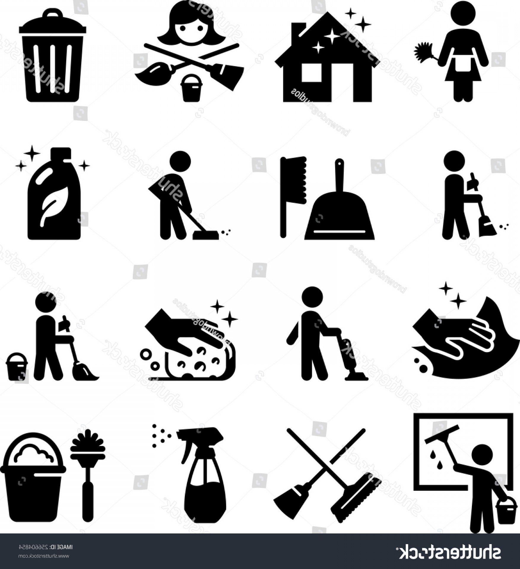 Cleaning Vector Janitorail: Maid Services Janitorial Cleaning Icons