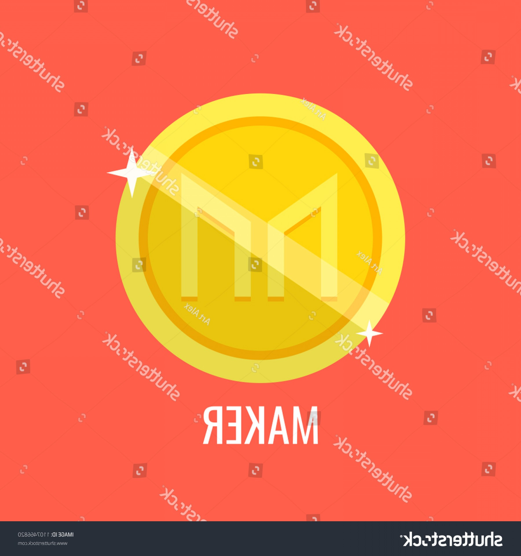 Vector Maker: Maker Gold Coin Icon Sign Payment