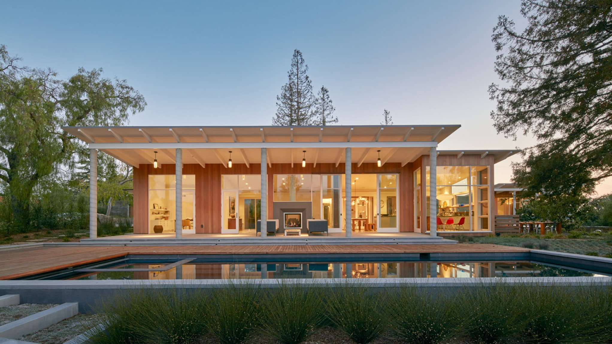California Lifestyle Vector: Malcolm Davis Architecture Cedar Clad Home Silicon Valley California Outdoor Lifestyle