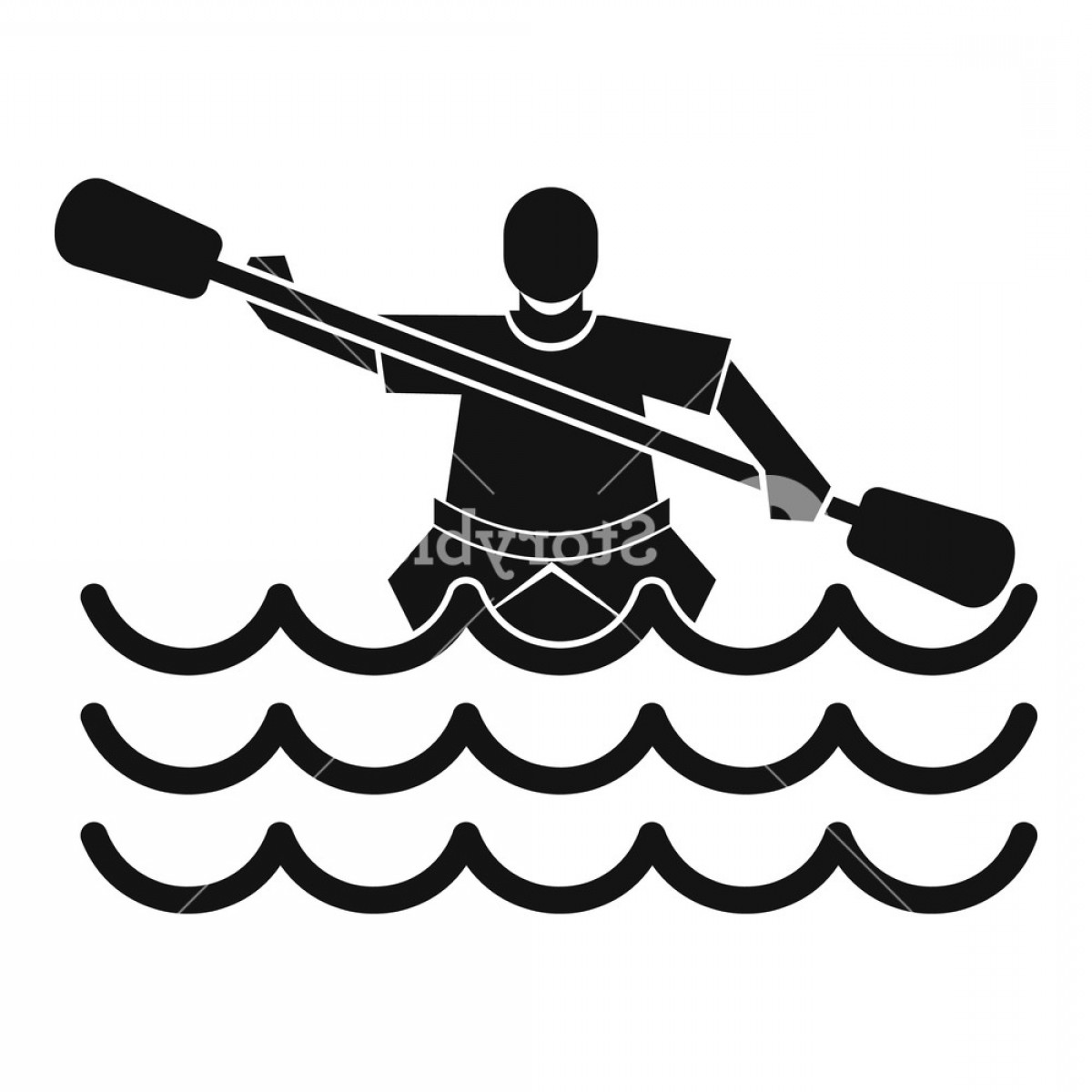 Canoe Vector: Male Athlete In A Canoe Icon Simple Illustration Of Male Athlete In A Canoe Vector Icon For Web Rdmbtggomjhryxkd