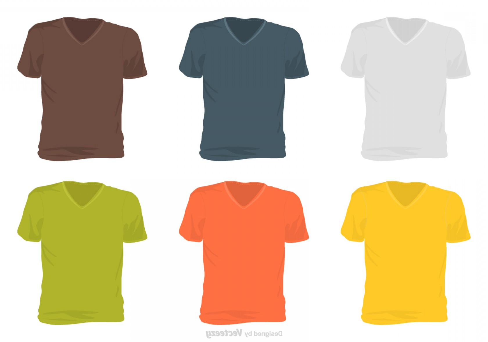 Long Sleeve Jersey Vector Template: Male V Neck Shirt Template Vector