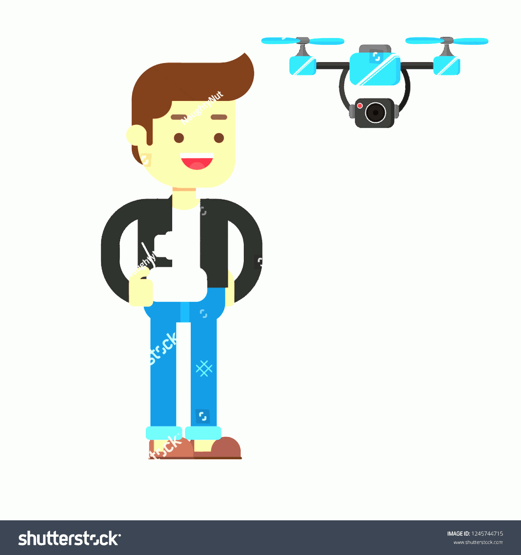 Vectorman LEGO: Man Character Avatar Icon Controlling Flying