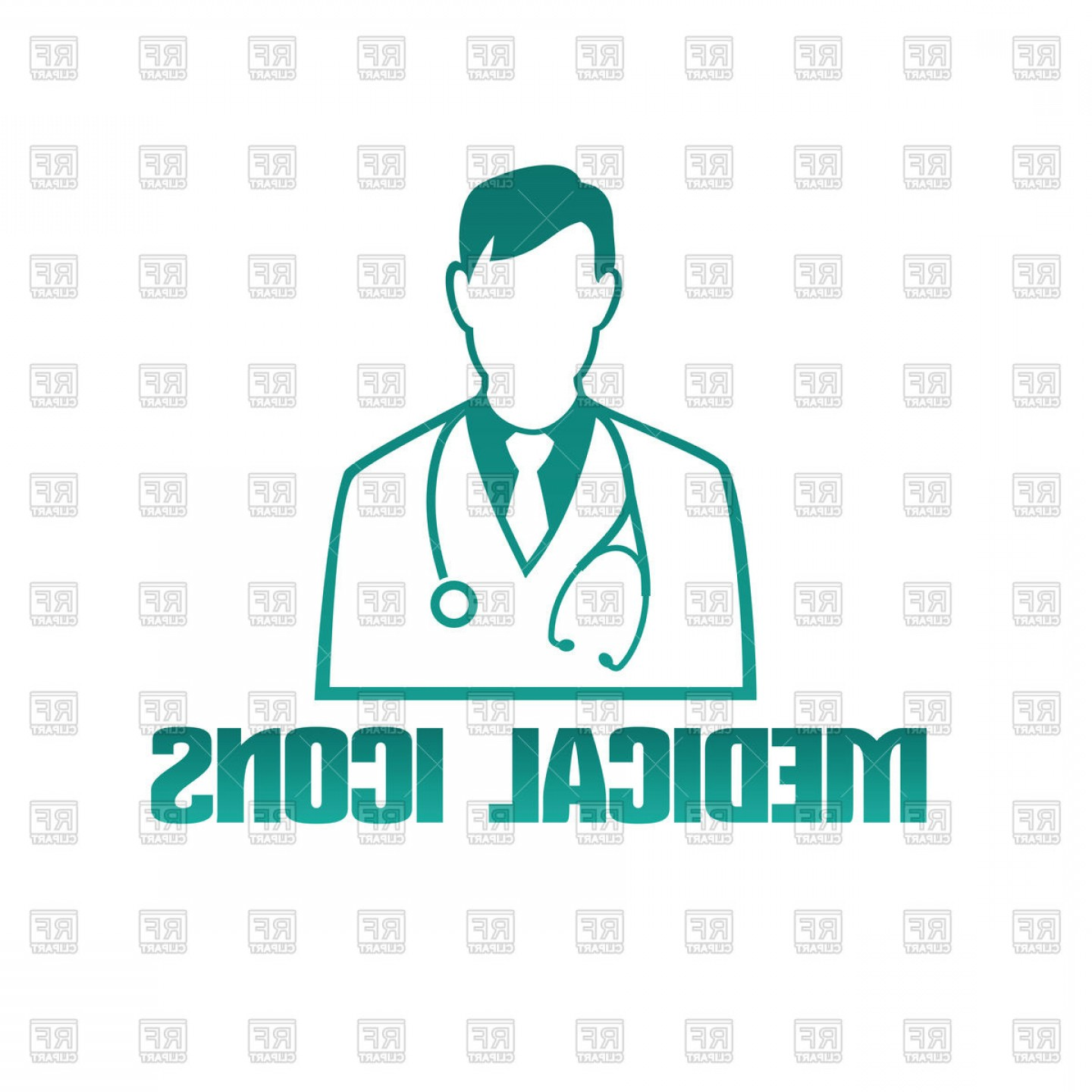 User Icon Vector Free: Man Doctor Therapist With Stethoscope User Icon Vector Clipart