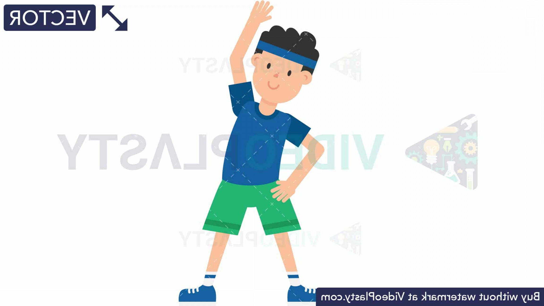 Man Vector Exercise: Man Doing Warm Up Exercise Vector