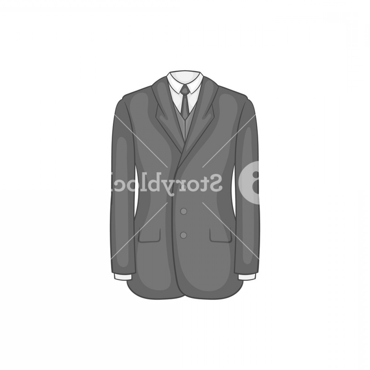 Gas Mask Suit And Tie Vector: Man Suit With Tie Icon In Black Monochrome Style On A White Background Vector Illustration Sc Kqnbymjhhulj