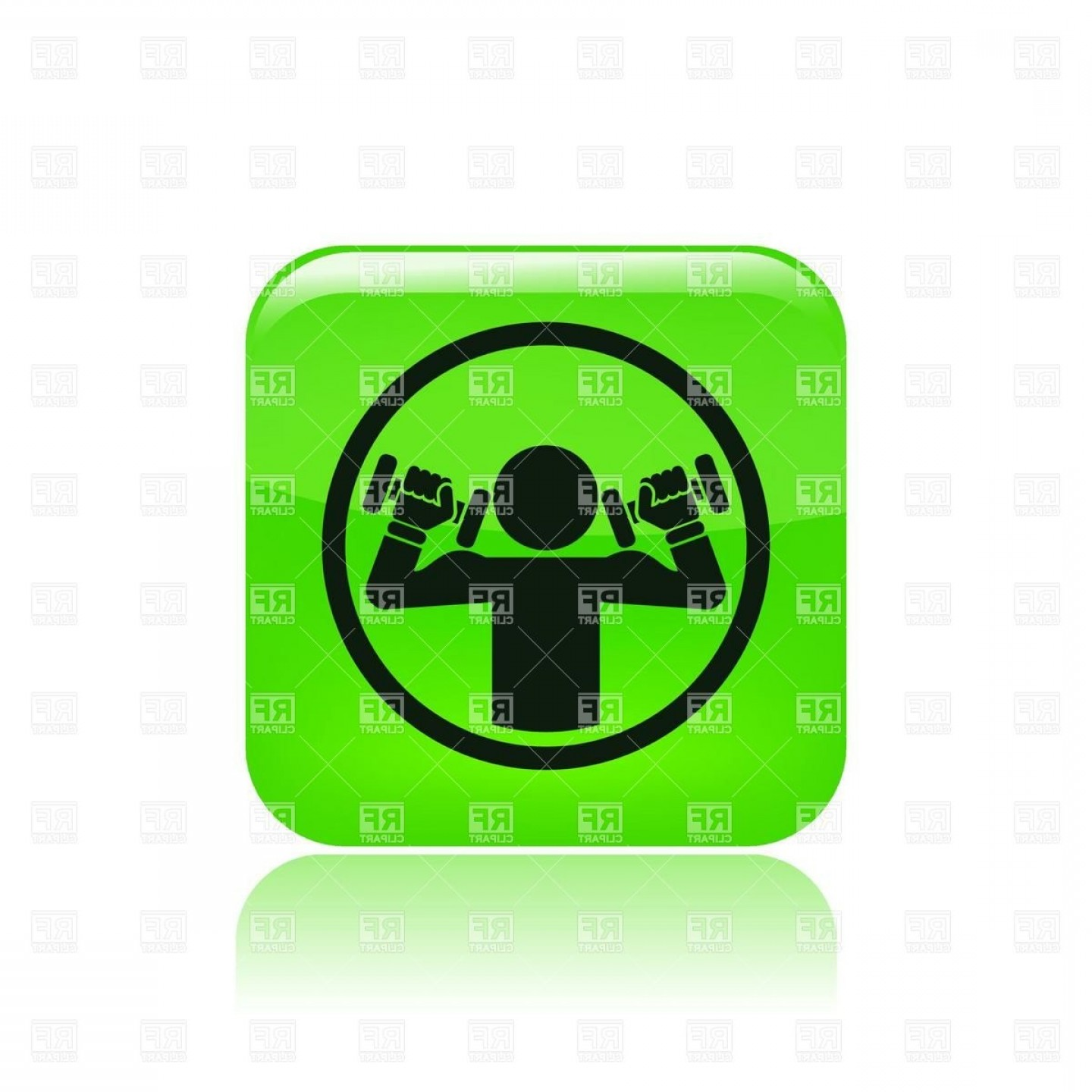 Weight Lifting Vector Graphics: Man With Dumbbells Near Head Weightlifting Icon Vector Clipart