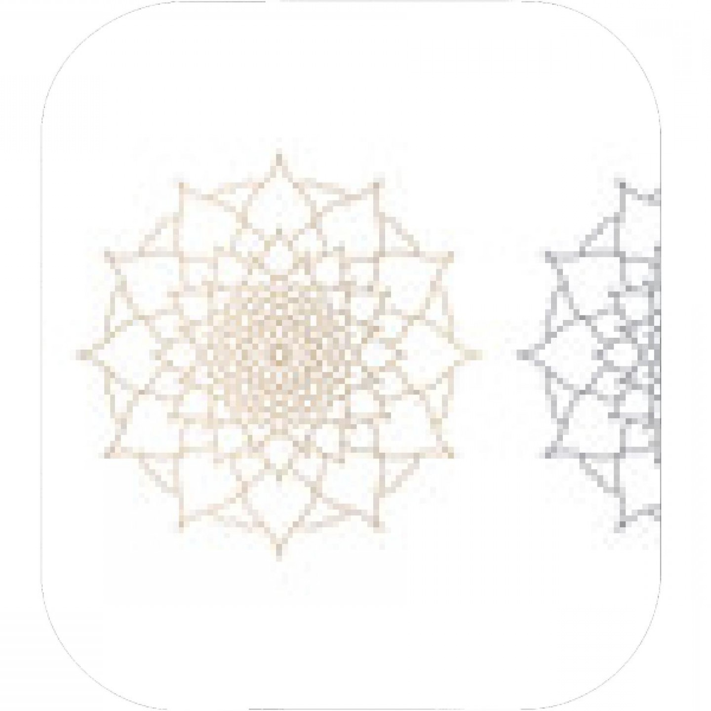 Gold And Blue Flower Vector: Mandala Of Blue And Gold Color Abstraction Of Flower Petals Geometric Patterned Flower Vector Illustration On White Background