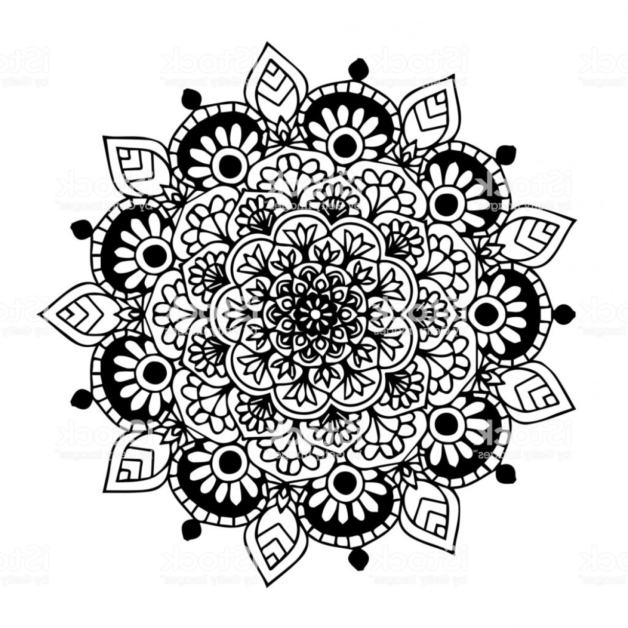 Razorback Vector Mandala: Mandalas For Coloring Book Decorative Round Ornaments Unusual Flower Shape Oriental Gm