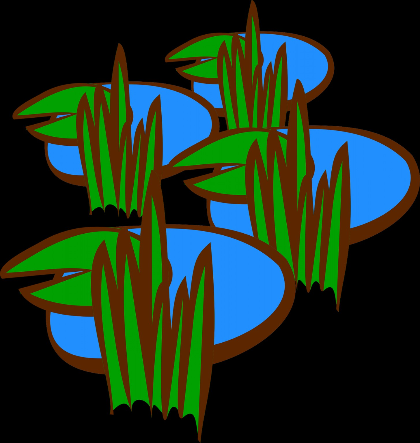 Swamp Vector Art: Map Icon Rpg Swamp Free Vector Graphics