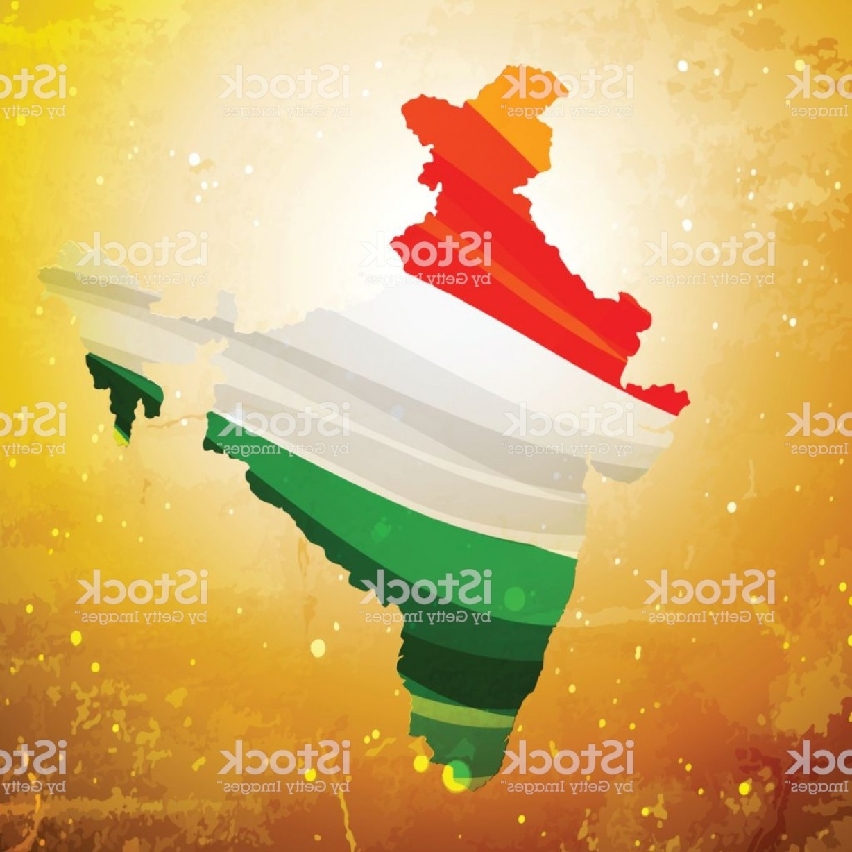 BG Vector Map: Map Of India In Textured Old Background Vector Design Illustration Gm