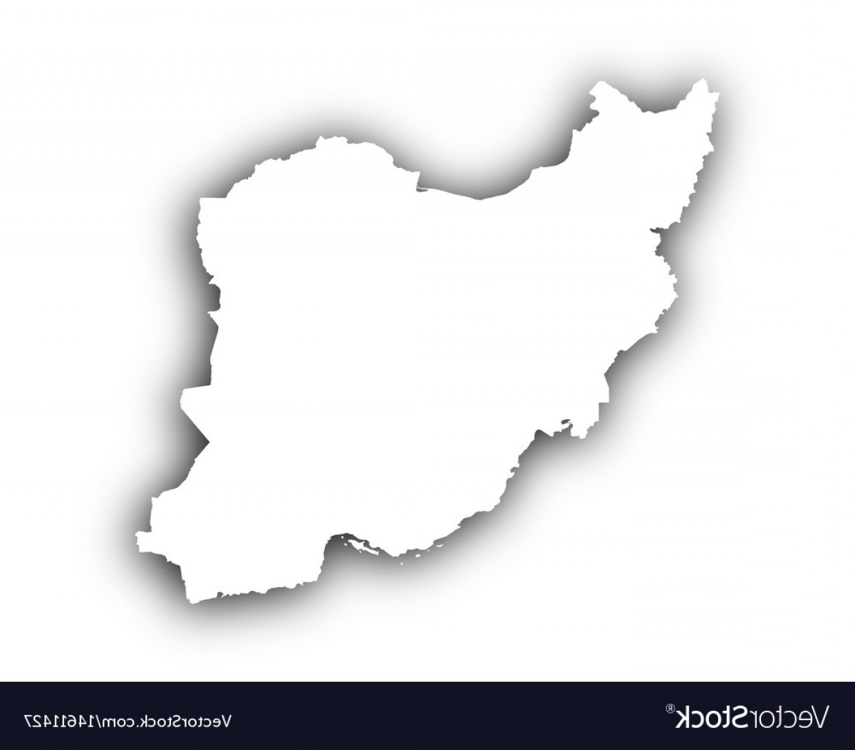Iran Map Vector: Map Of Iran With Shadow Vector