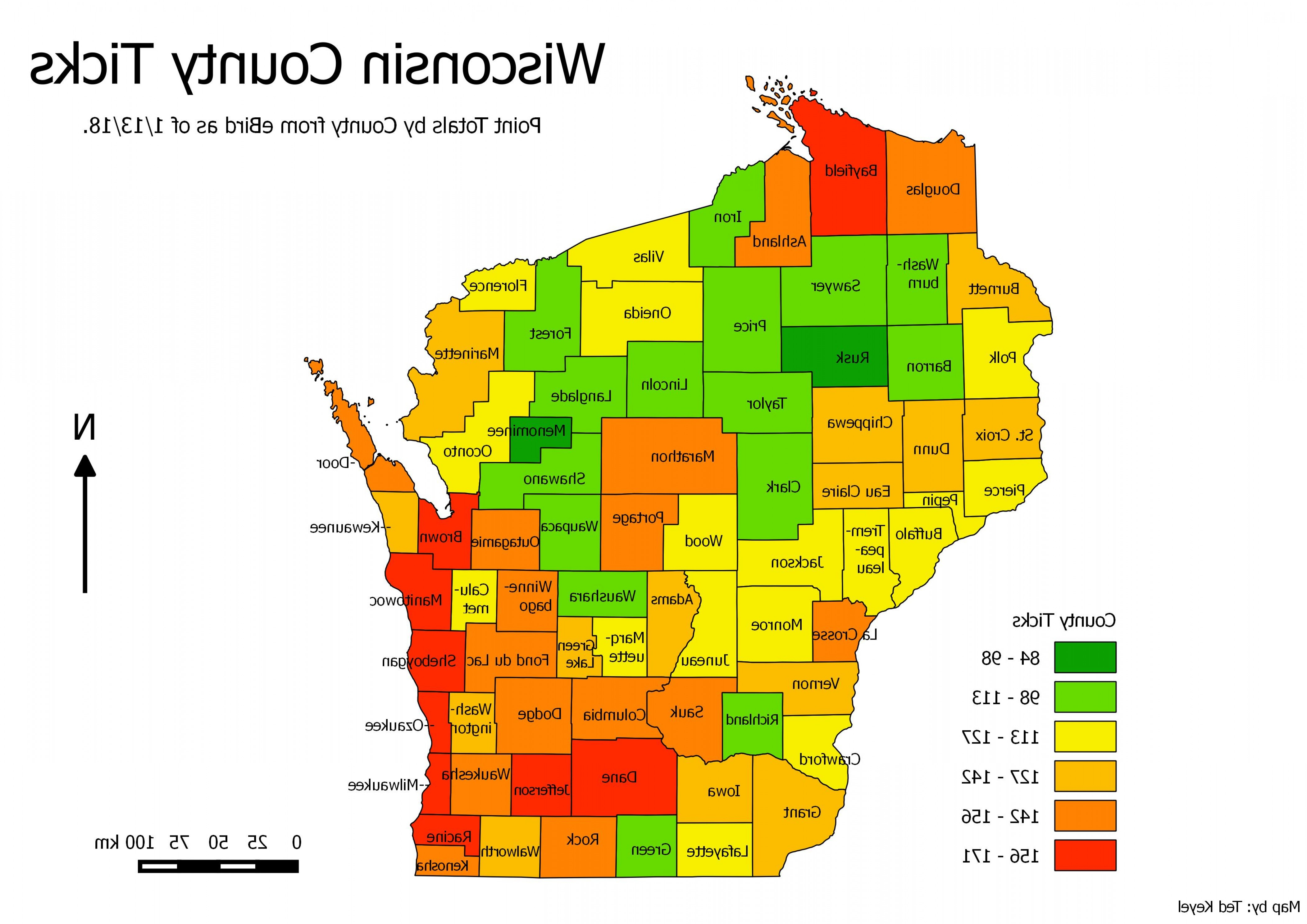 WI County Map Vector: Map Of Northern Wisconsin Map With Zone Map Of Counties Of Wisconsin