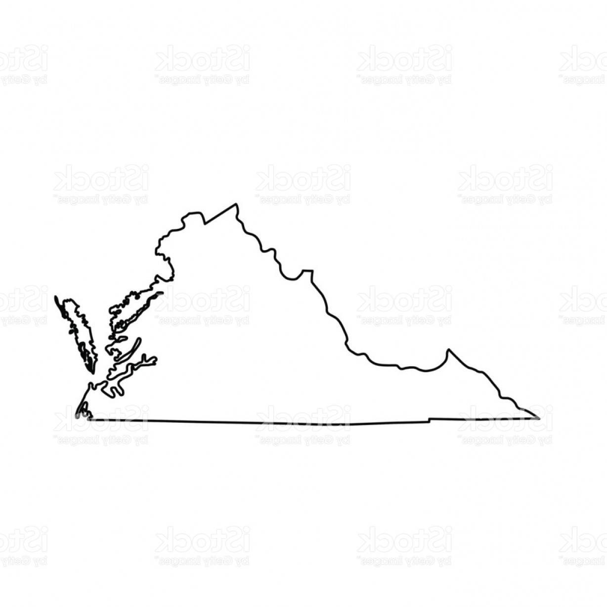 Virginia Vector: Map Of The U S State Of Virginia Gm