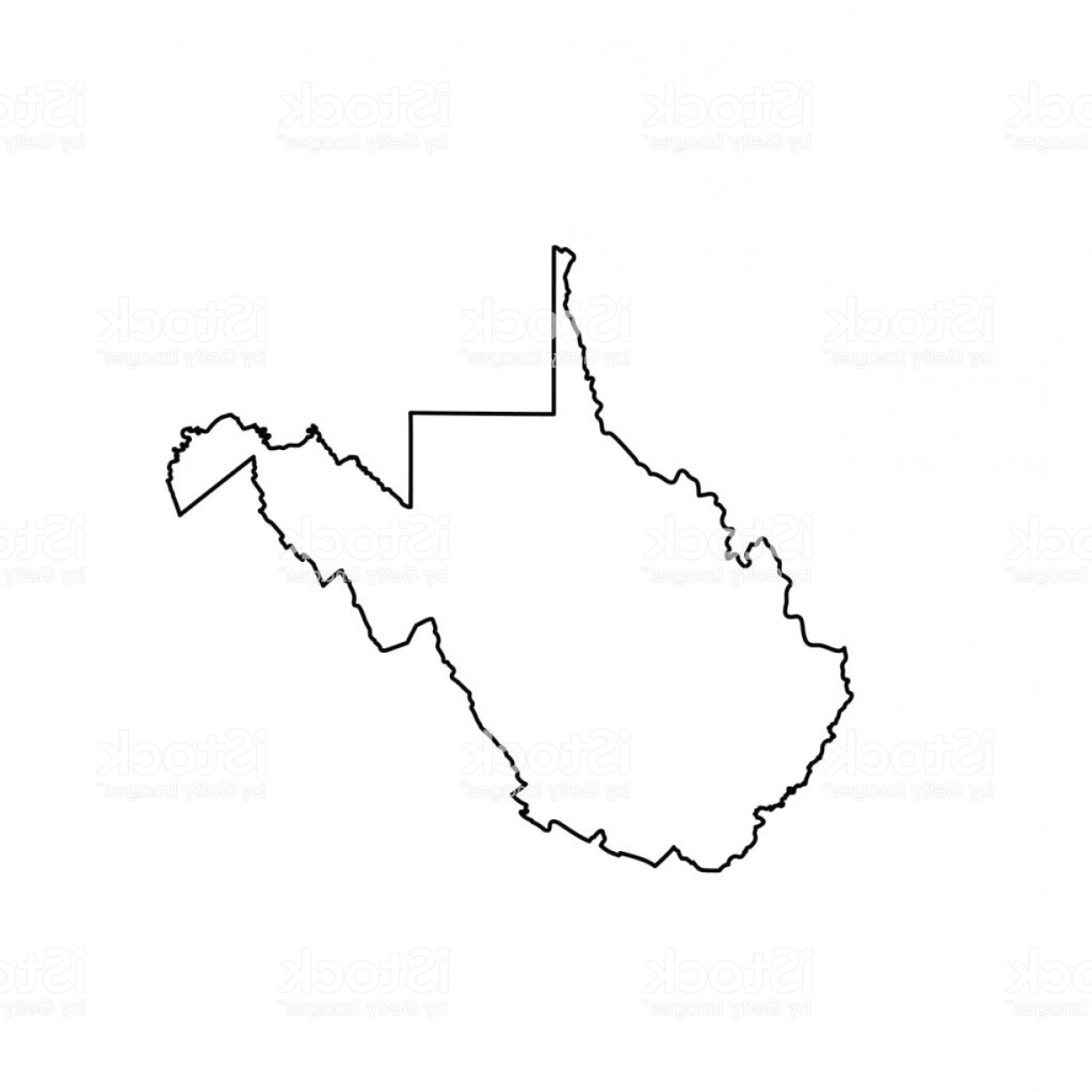 West Virginia Logo Vector: Map Of The U S State Of West Virginia Gm