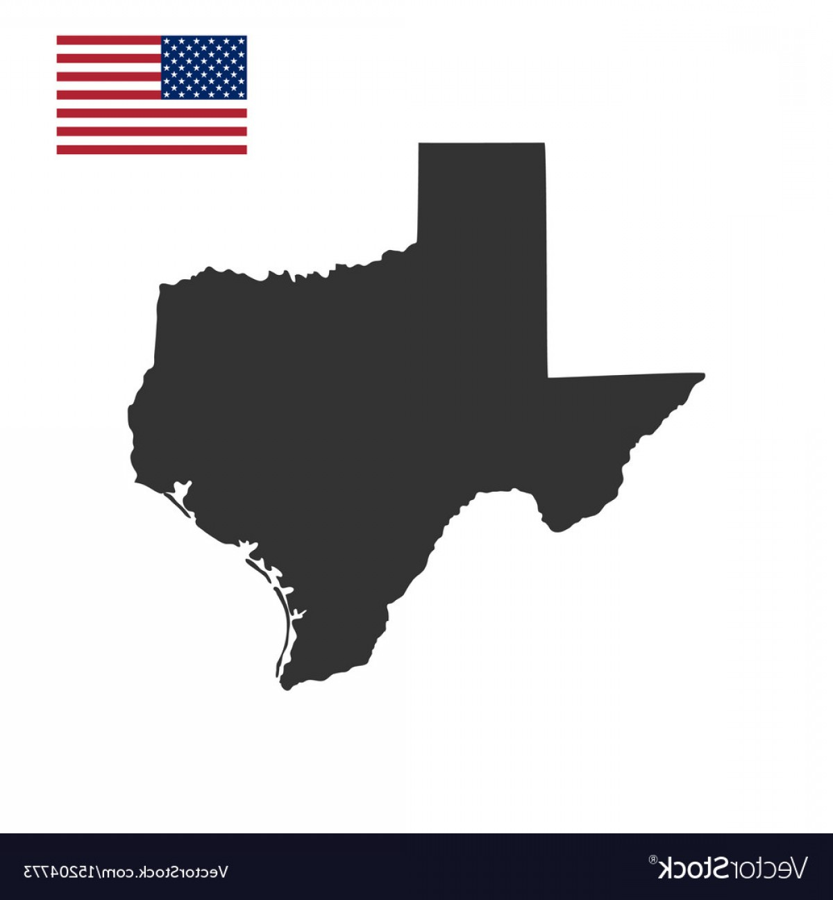 Texas Counties Map Vector: Map Of The Us State Of Texas Vector