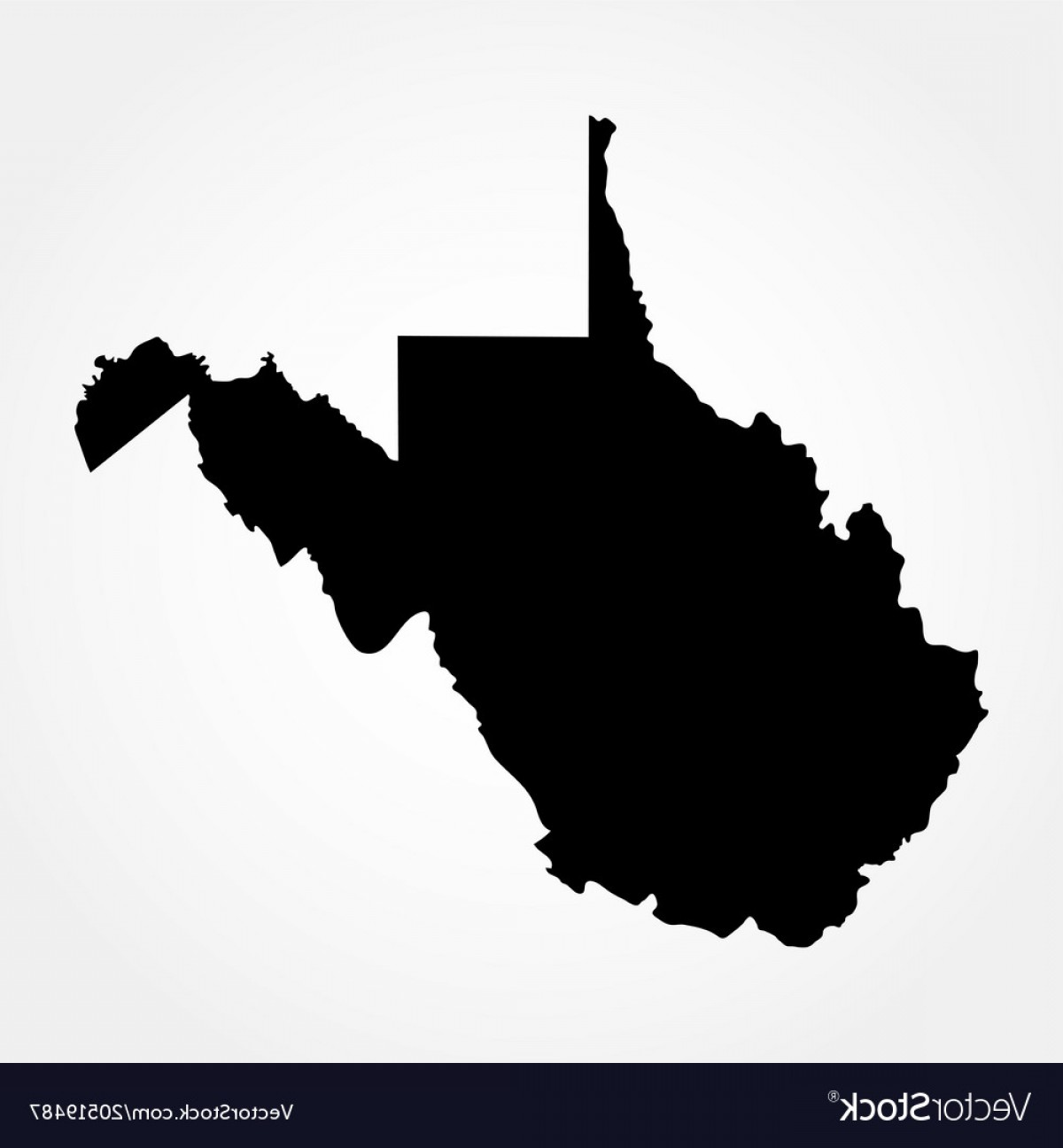 Virginia Vector: Map Of The Us State Of West Virginia Vector