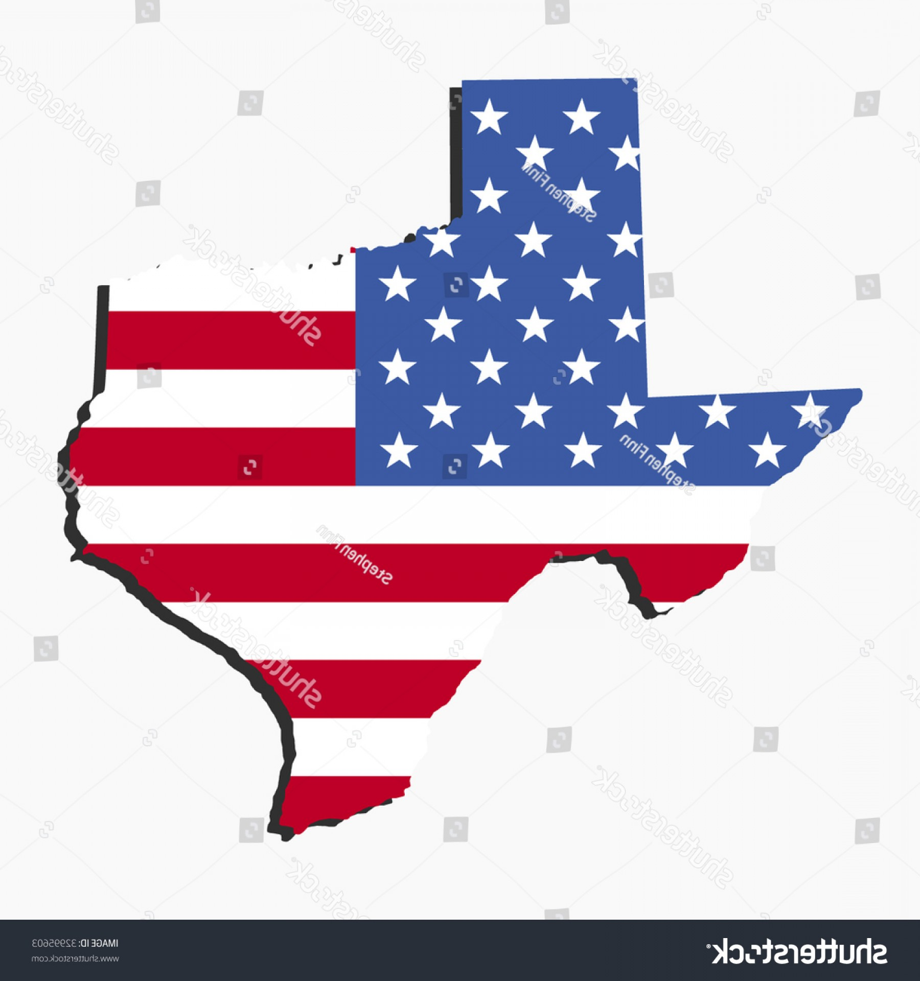 Texas American Flag Vector: Map State Texas American Flag Illustration