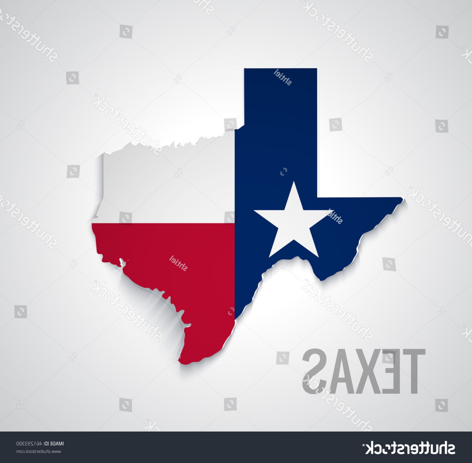 Texas Flag Vector Art: Map Texas Abstract Vector Flag