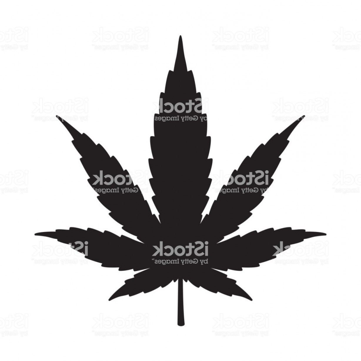 Vector Leaf Graphicd: Marijuana Cannabis Weed Vector Leaf Icon Logo Symbol Graphic Illustration Gm