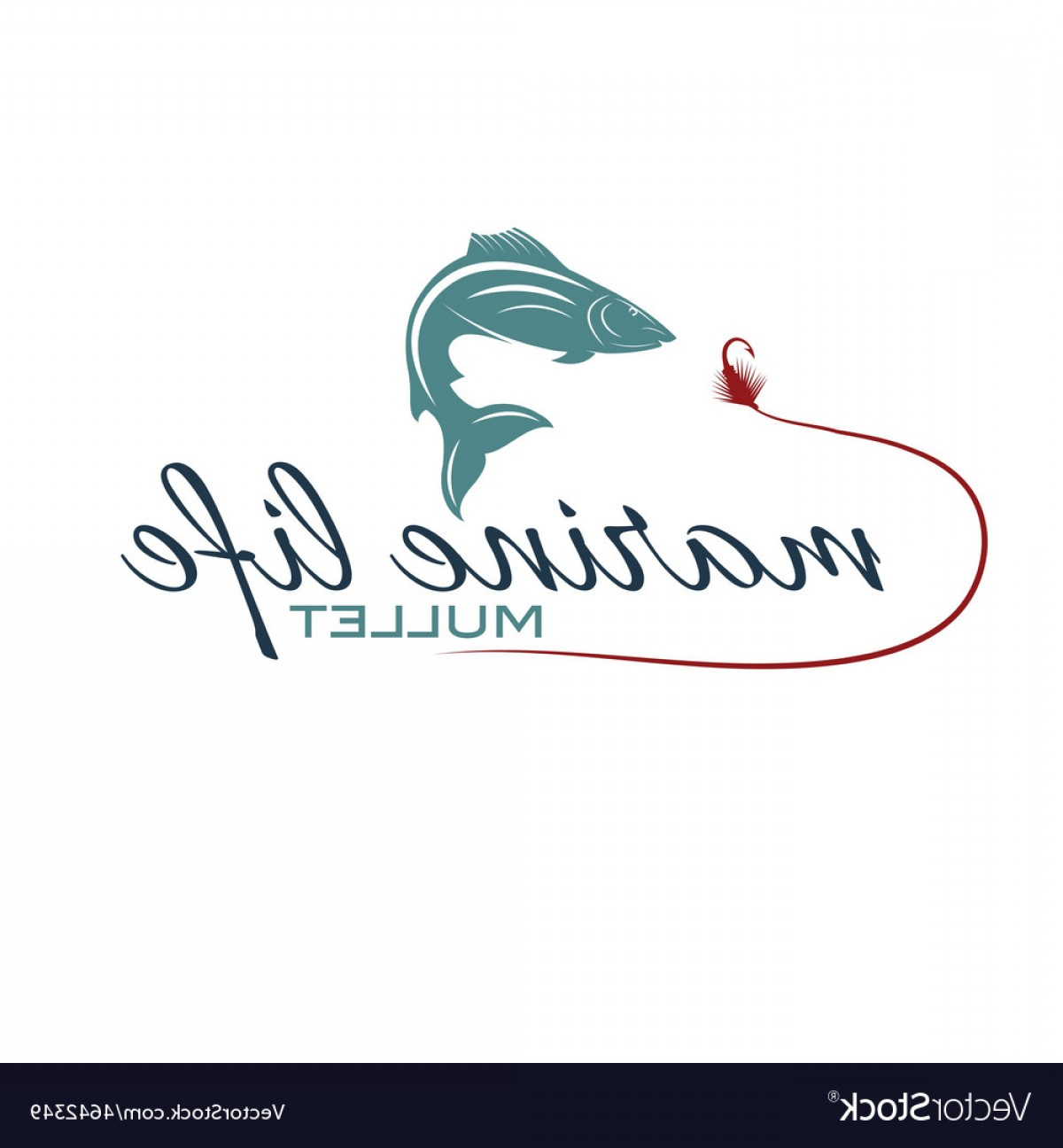 Mullet Vector Logo: Marine Life With Mullet Vector