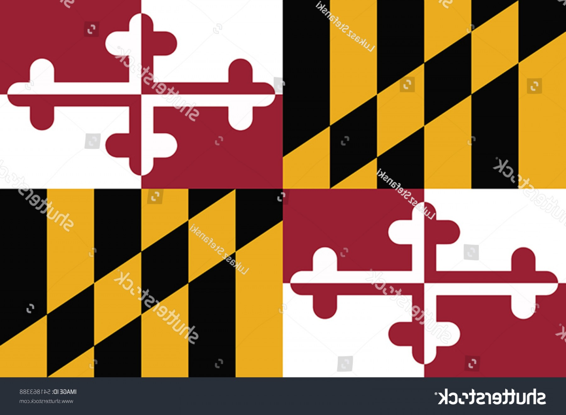 State Flag Images Vector: Maryland State Flag Usa Vector Format