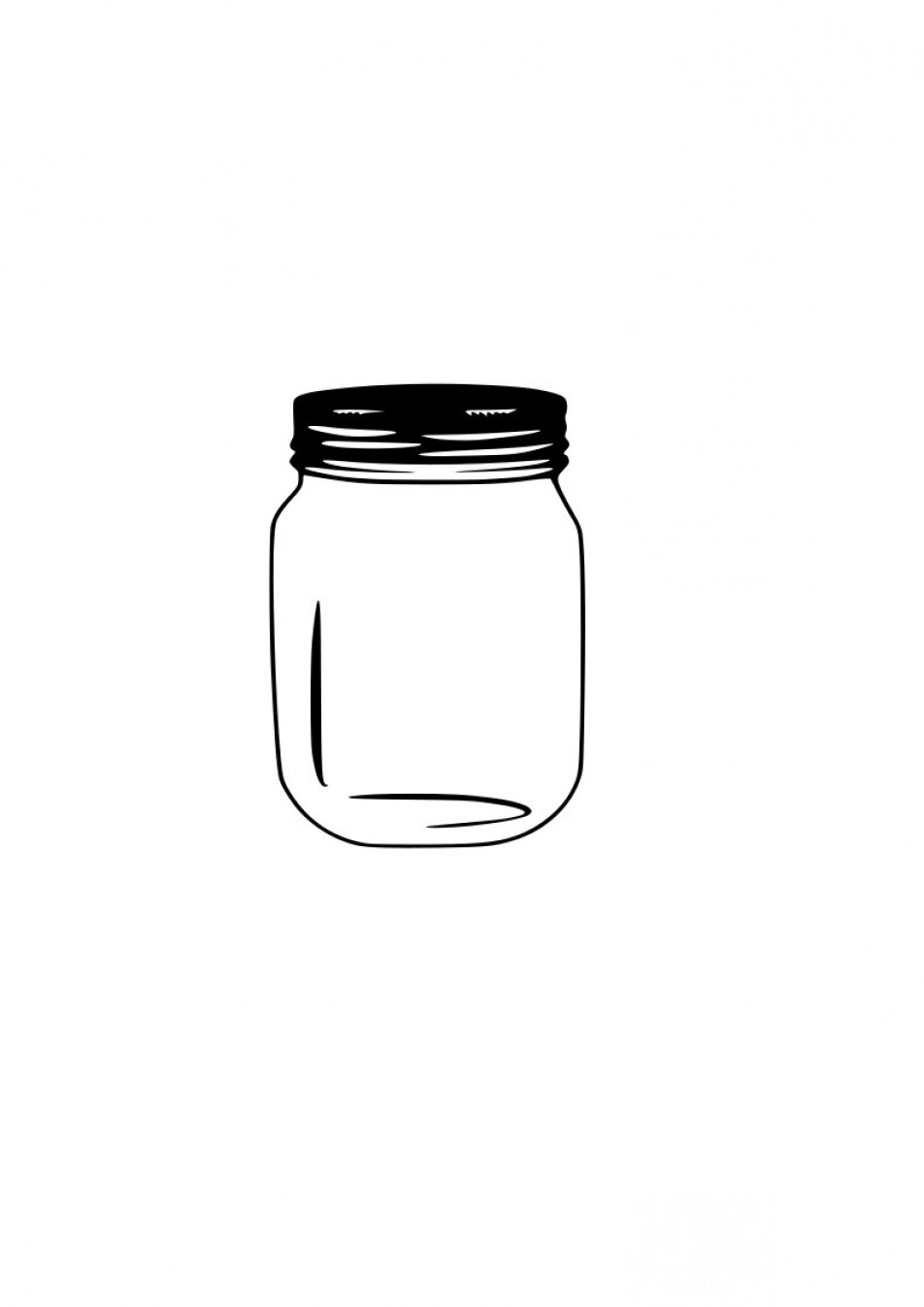 Mason Jar Outline Vector: Mason Jar Svg Outline Laptop Cup Decal