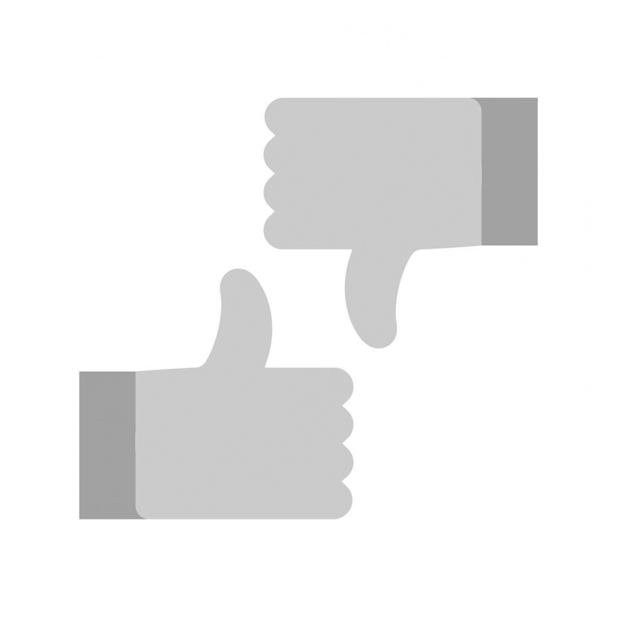 Vector Thumbs Up Down: Material Design Thumbs Up Down Greyscale Icon