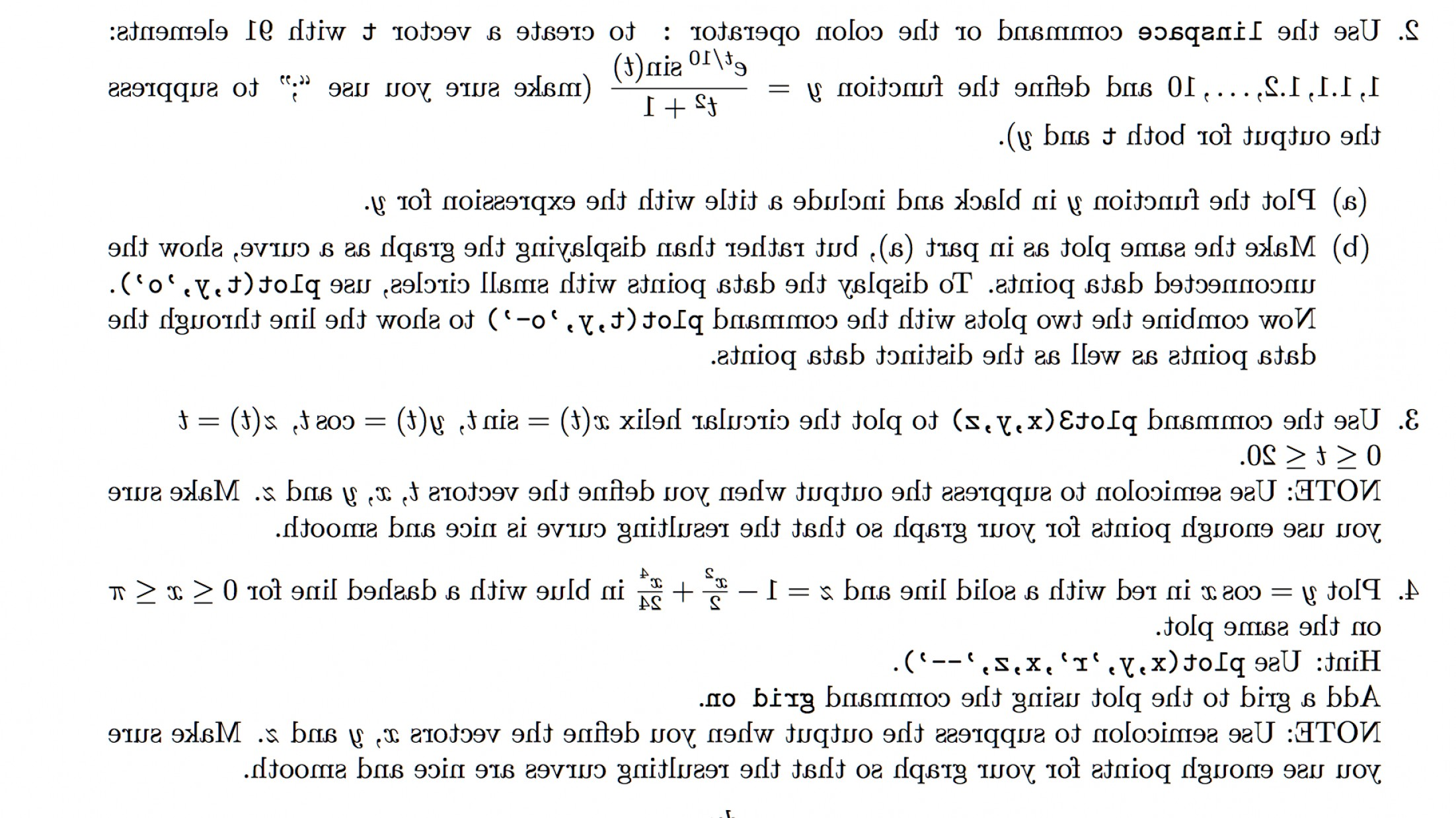 Combine Two Vectors MATLAB: Matlab Code Anything Helps Use Linspace Command Colon Operator Create Vector T Elemen Q