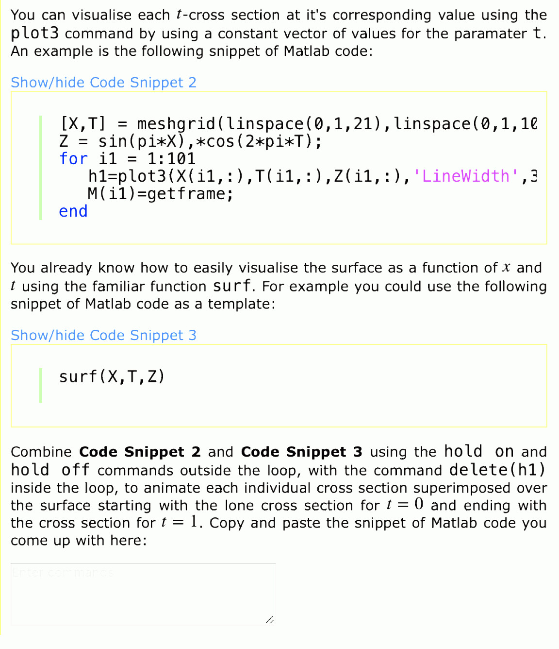 MATLAB Combine Vectors: Matlab Functions Inside Loops Plots Tedious Repetitive Calculations Use Loops Loops Also G Q
