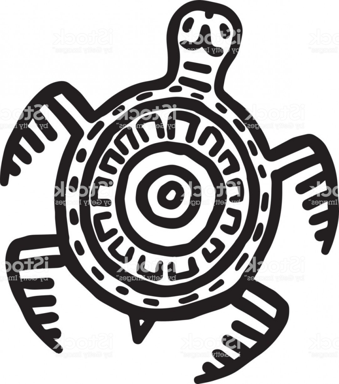 Mayan Vector: Mayan Art Animals Vector Slow Turtle Gm