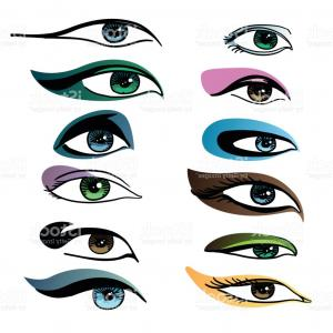 Vector Illustration Eyes Makeup: Illustration Womans Eye Eyebrow Makeup Look