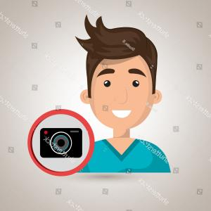 Vectorman Longplay: Man Camera Photography Icon Vector Illustration