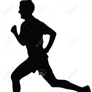 White Runner Silhouette Vector: Group Ten Men Women Runners Silhouette Vector Runner Silhouette Jogging Image