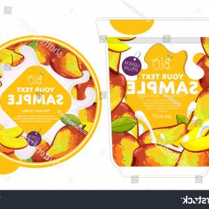 MLB Vectors: Mango Yogurt Package Design Splash Isolated