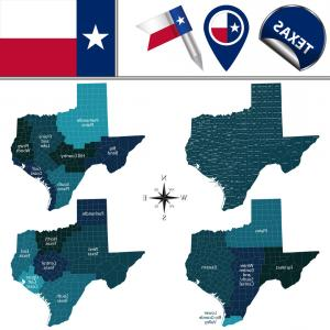 Printable DL Texas Seal Vector: Map Of Texas With Regions Vector
