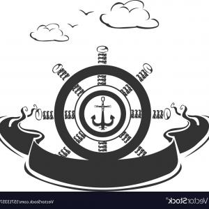 Marine Emblem Vector Art: Anchor Icons Set Marine And Nautical Emblems Collection Image