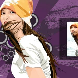 Vector In Photoshop CS5: A Vector Graphic Portrait I Have Done