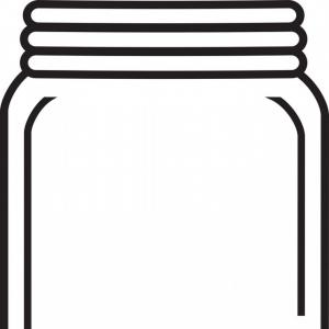 Mason Jar Outline Vector: Apple Jam Jar Sketch Icon Gm