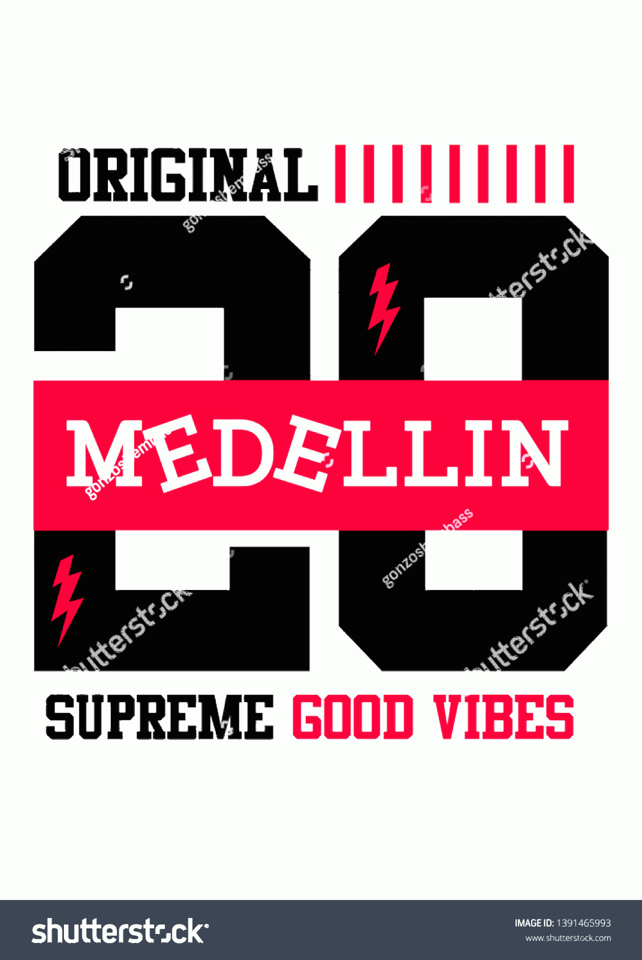Supreme Vector T-shirt: Medellin Supreme Good Vibestshirt Design Vector