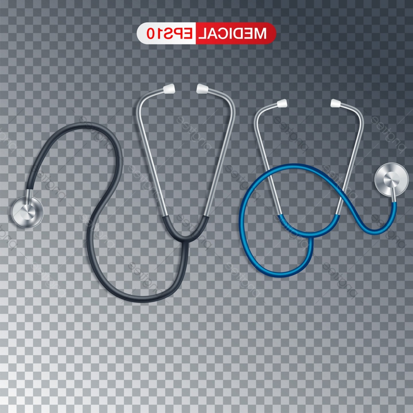 Heard Fishing Hook Vector: Medical Vector Background With Stethoscope Stethoscope Medical