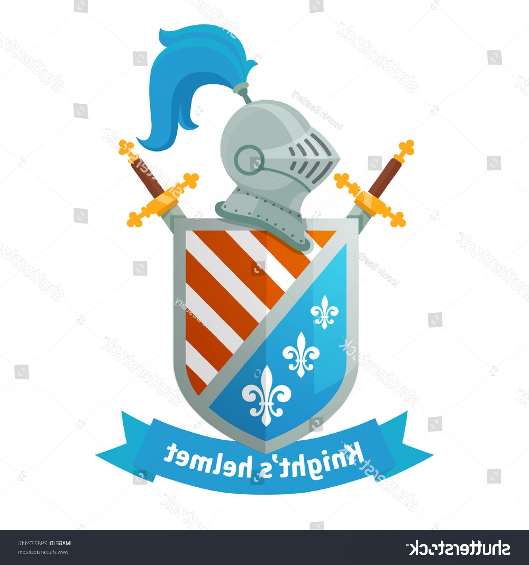 Powder Coating Vector Art: Medieval Coat Arms Knight Helmet Shield