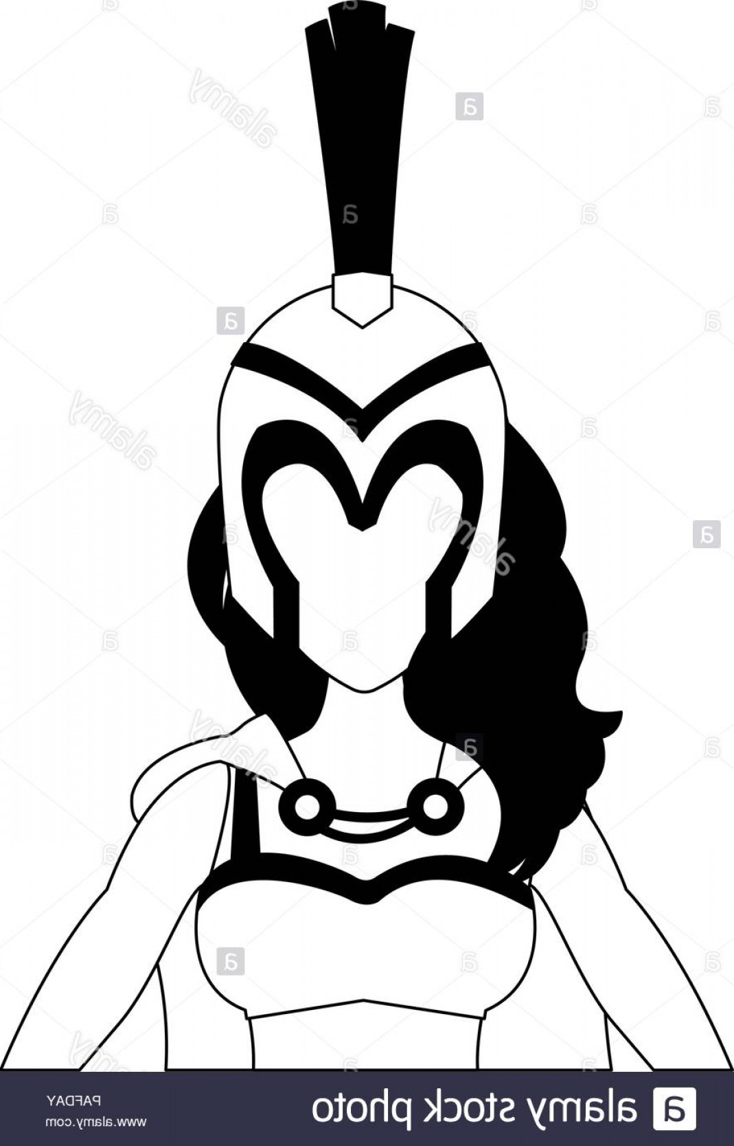Warrior Vector Art: Medieval Woman Warrior Cartoon Vector Illustration Graphic Design Image