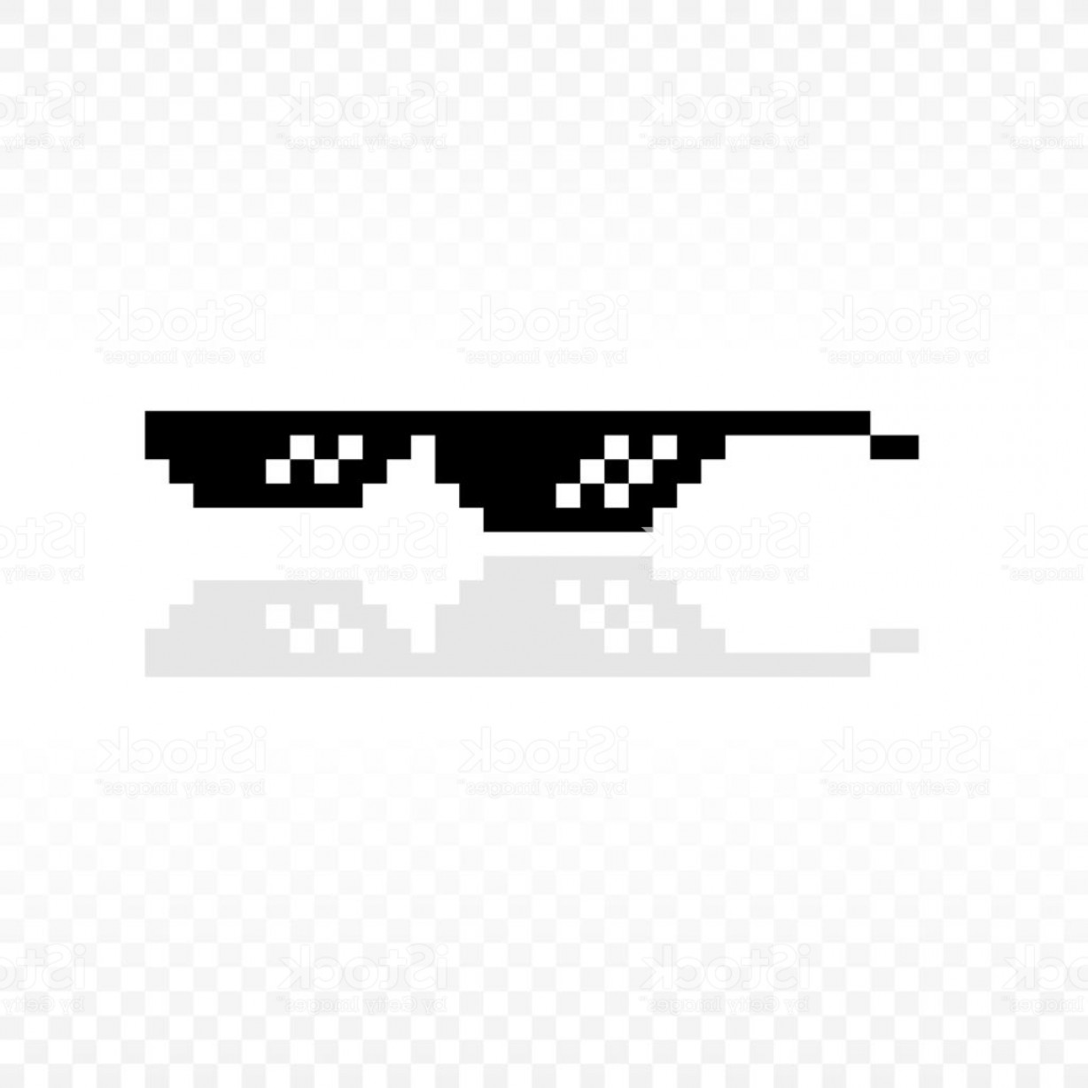 Art Stencil Thug Vector: Meme Glasses Or Thug Life Or Like A Boss Or Deal With It Gm