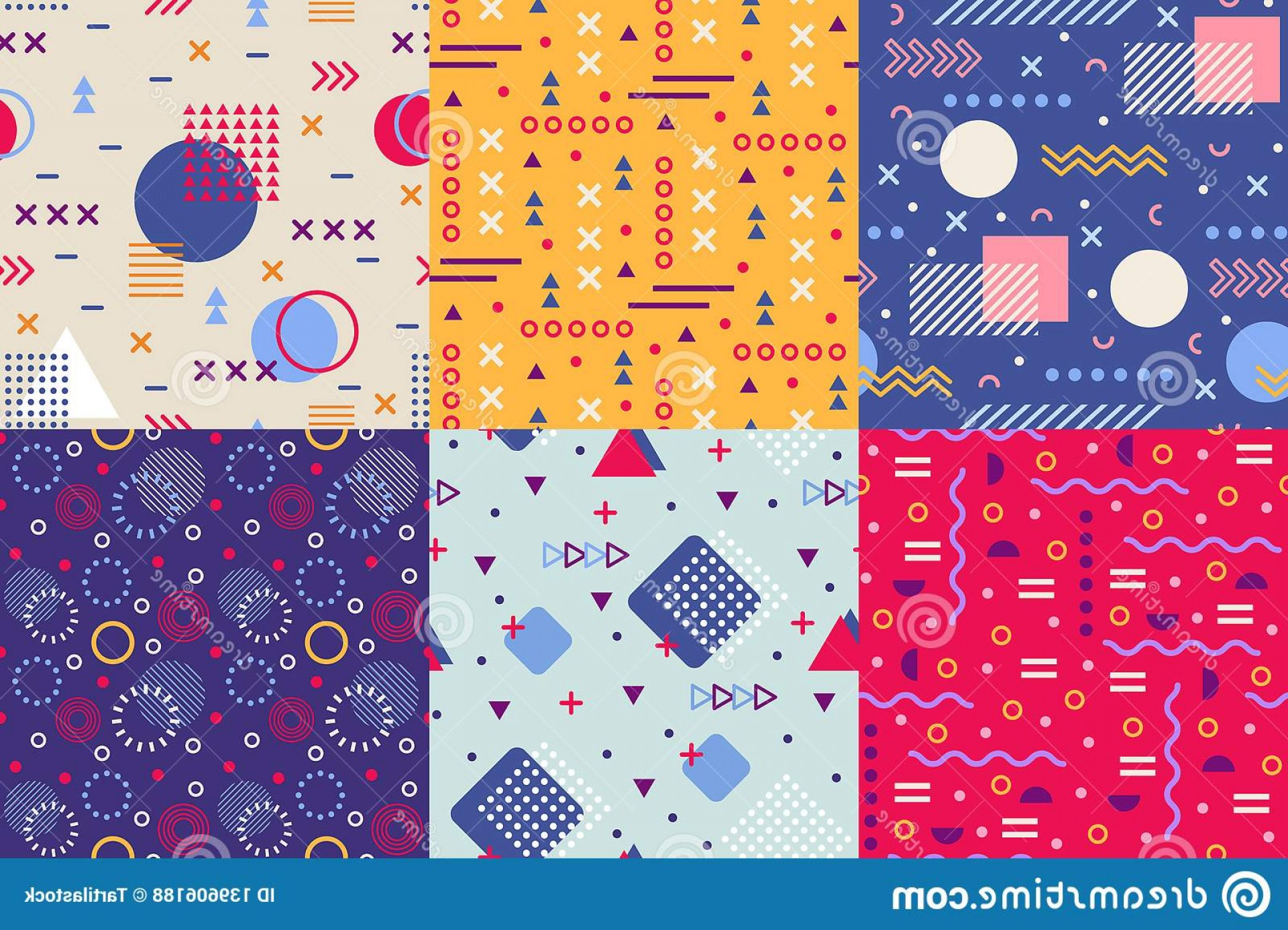 Vector Geometric Abstract Shapes Phone Wallpapers: Memphis Funky Pattern Retro S Abstract Shapes Backgrounds Creative Shape Texture Poster S Geometric Wallpaper Hipster Memphis Image
