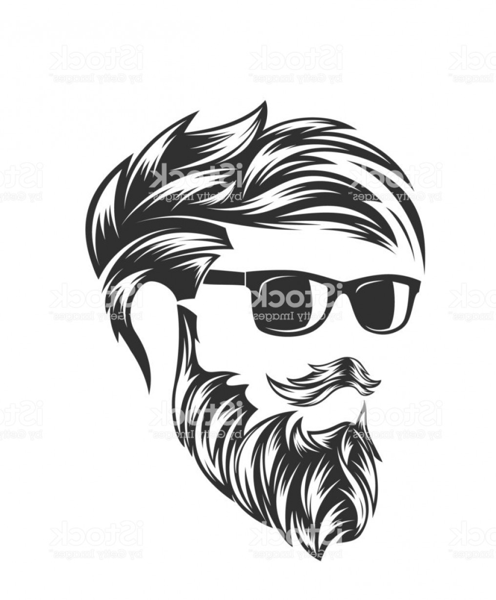 Mustache Face Vector: Mens Hairstyles And Hirecut With Beard Mustache In Face Gm